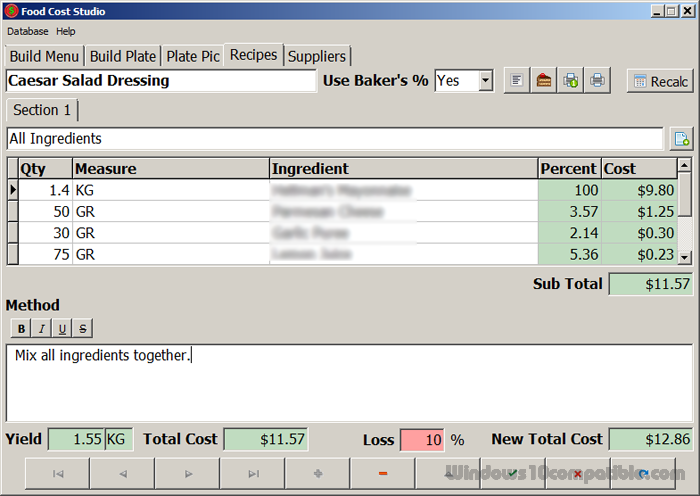 Food cost studio 30 free download screenshot forumfinder Choice Image